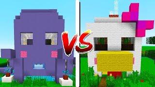 CASA DA GALINHA vs CASA DO POLVO! - Minecraft Casa vs Casa