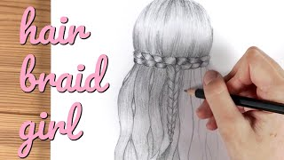 Girl with beautiful hair / Pencil  Sketch Drawing / How to draw girl #28
