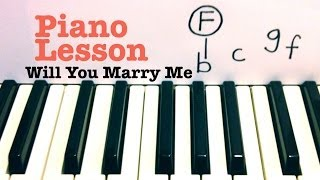 Will You Marry Me - Piano Lesson / Tutorial - Jason Derulo