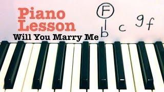 Will You Marry Me - Piano Lesson / Tutorial - Jason Derulo