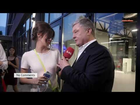 Как Порошенко пытался забрать микрофон у журналистки 1+1