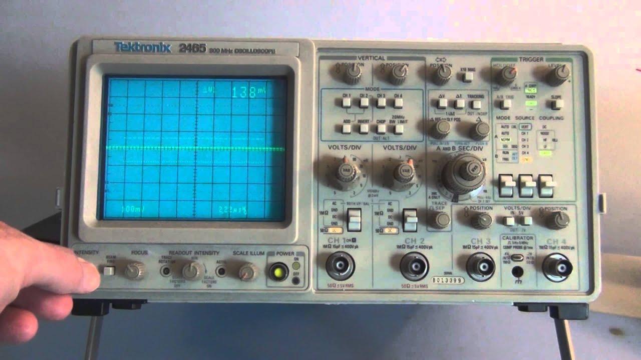 tektronix 2465 300mhz oscilloscope youtube rh youtube com Tektronix Oscilloscope Tektronix Calibration Services