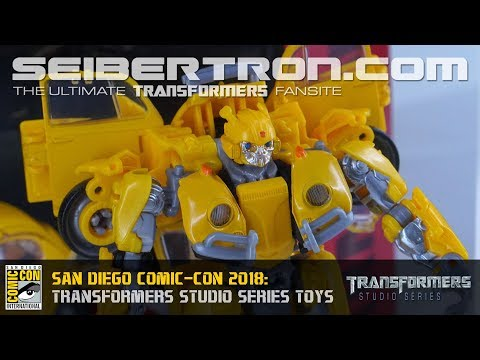 Transformers Studio Series and Movie Masterpiece products shown at SDCC 2018