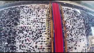 видео Гигантская автомобильная пробка в Китае