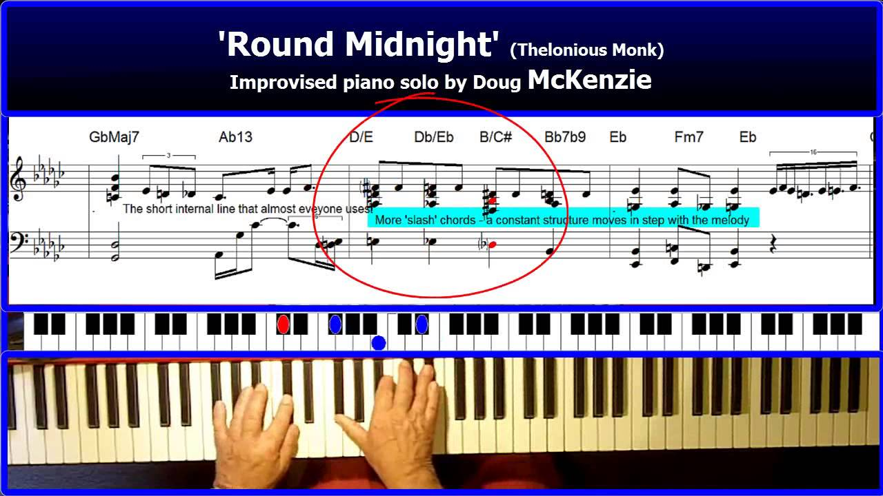 Round midnight solo jazz piano tutorial youtube round midnight solo jazz piano tutorial hexwebz Image collections