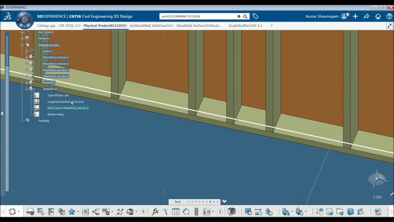 Updated Wood Frame Automation Tool - CATIA #3DEXPERIENCE - YouTube
