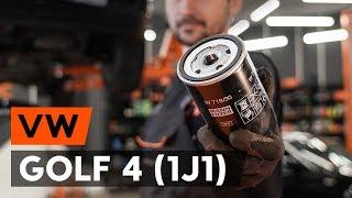 Τοποθέτησης Φίλτρο λαδιού VW GOLF: εγχειρίδια βίντεο