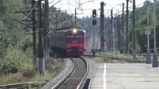 ЭТ2М-044 станция Сосново(ЭТ2М-044, Ленинградская область, станция Сосново, первый путь. (23.08.2015), 2015-08-26T13:02:11.000Z)