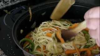 Cocina fácil - Espagueti con verdura - Spaghetti with vegetables