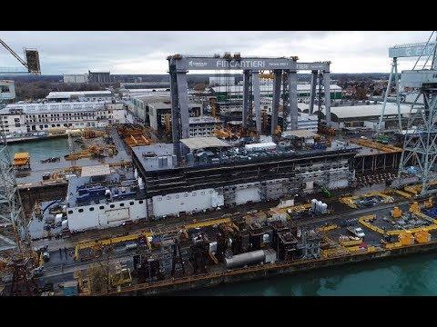 4K | First look at COSTA VENEZIA ( 2019 ) under construction at Fincantieri shipyard Monfalcone