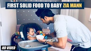 Introducing Solid Food first time to baby - 6 month old Baby!!