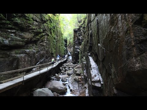 Travel footage: New Hampshire, Flume Gorge