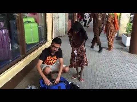 Schools bags and shoes distribution to street kids