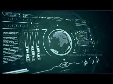3D HUD interface display scanning of the planet Earth Blue