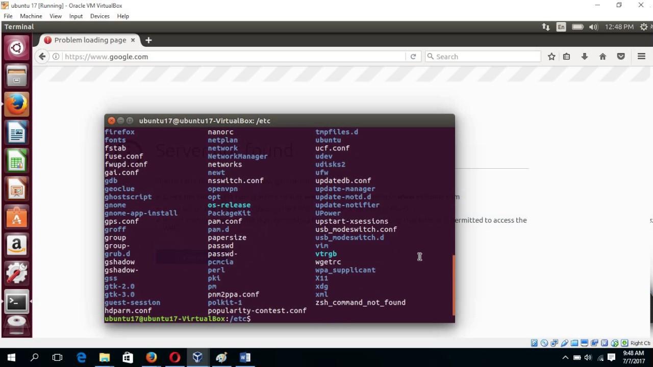 Solve Internet Connection Problem on Ubuntu 17 04