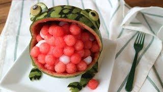 Watermelon Frog!スイカになっちゃいました!カエルくんデザート