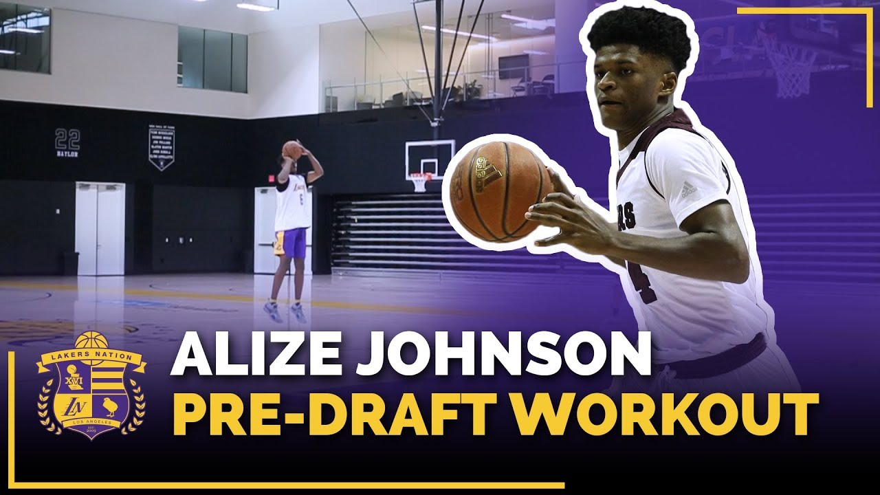 Missouri State Forward Alize Johnson Lakers Pre-Draft Workout (Lakers Mentality Drill)