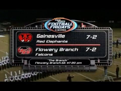 Gainesville vs Flowery Branch (GPB HS Football) (11/09/12)