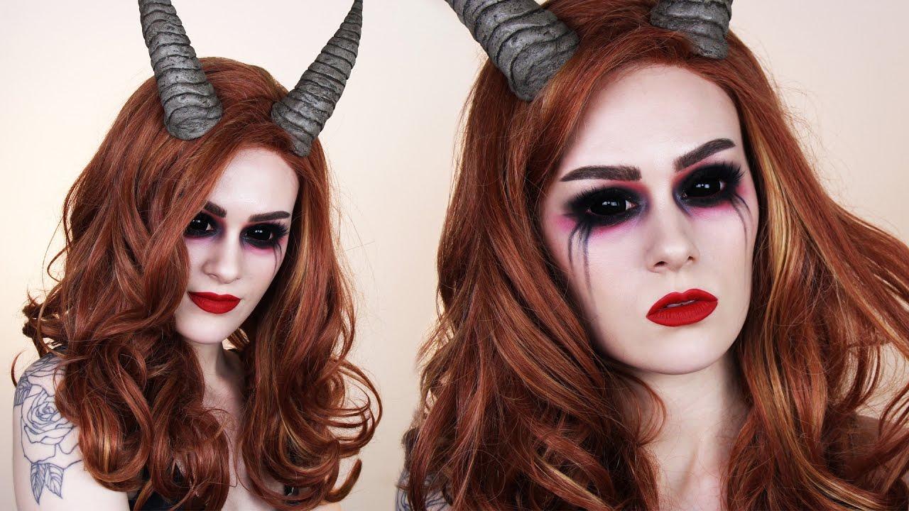 Diy horns demonsuccubus makeup tutorial youtube diy horns demonsuccubus makeup tutorial solutioingenieria Images