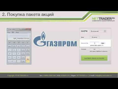 Урок 2. Покупка пакета акций с TRADERNET
