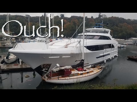 24m Yacht Slams Into Dock Next To Us! Onboard Lifestyle ep.85