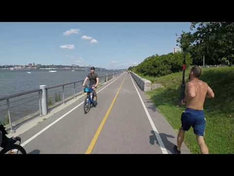 NYC Cycling Hudson River Greenway @ 72nd Street To 218th Street - Inwood