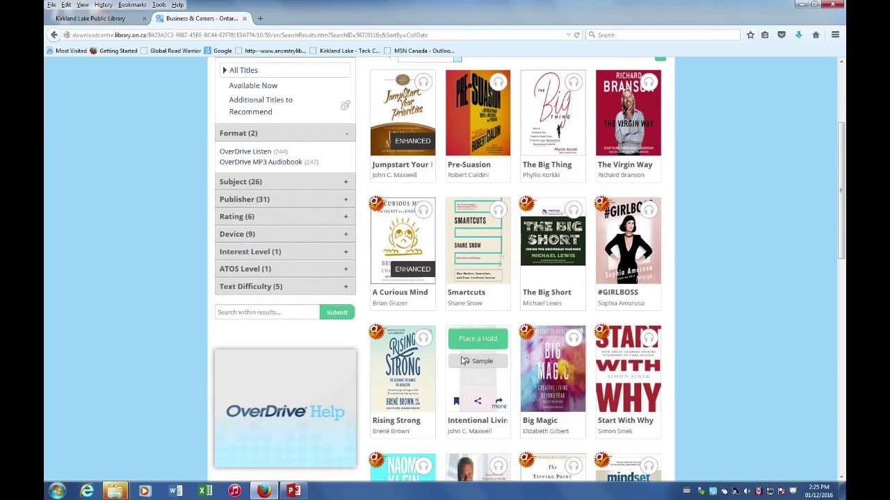 toronto public library how to download ebooks to kobo