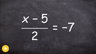 Solving an equation with two terms in the numerator thumbnail