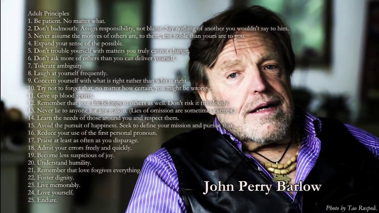 EFF founder and internet activist John Perry Barlow has died - American News