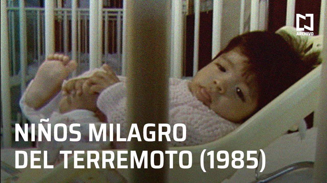 Niños huérfanos y damnificados del terremoto en México (1985)