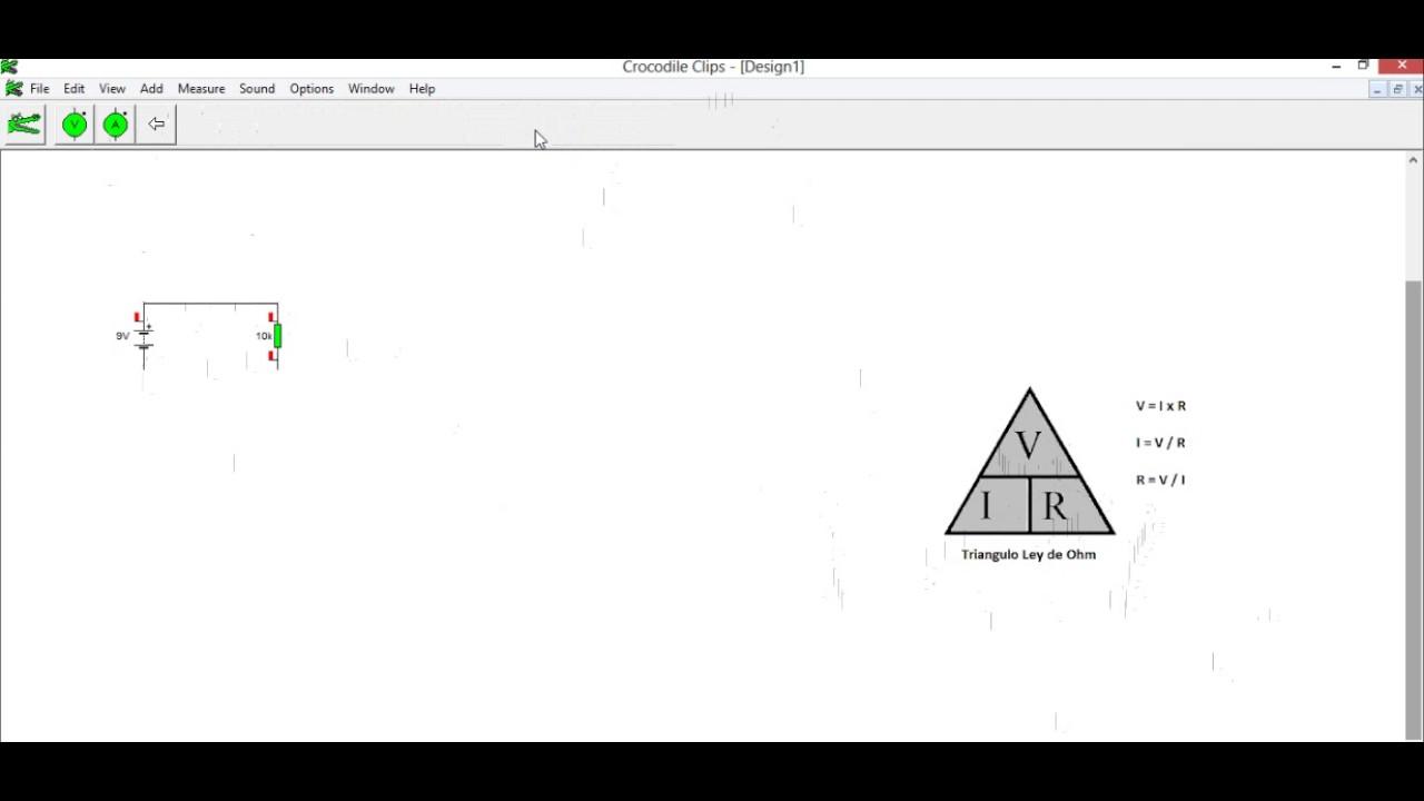 Circuito Sencillo : Circuito sencillo ley de ohm en crocodrile youtube
