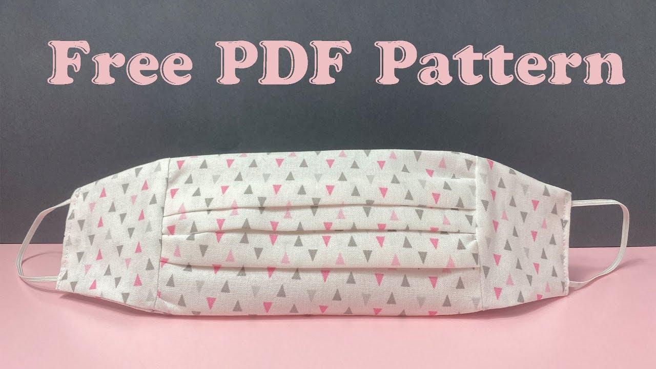 Easy DIY Face Mask FREE PDF Pattern