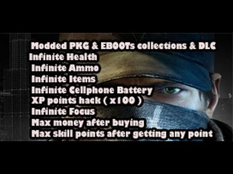 Watch Dogs modded EBOOTs & PKG collections/DLC