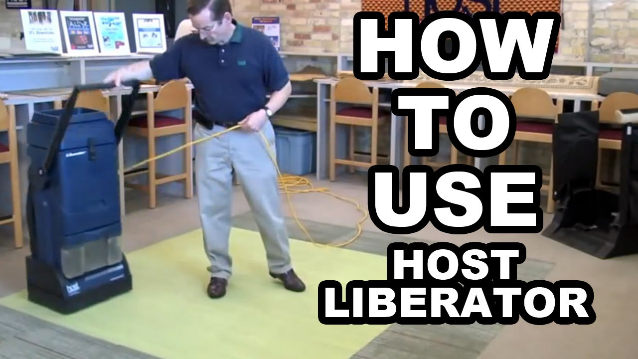 Host Liberator Dry Carpet Cleaning Machine How To Use