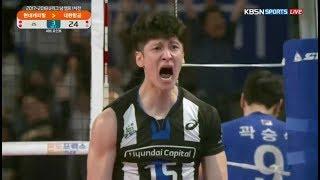 챔프전 연속 3득점으로 역전세트 따낸 클러치왕 문성민 ㄷㄷㄷ