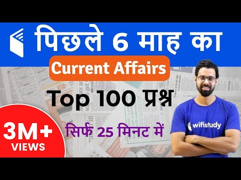 Last 6 Months Current Affairs 2018  Top 100 Current Affairs Questions