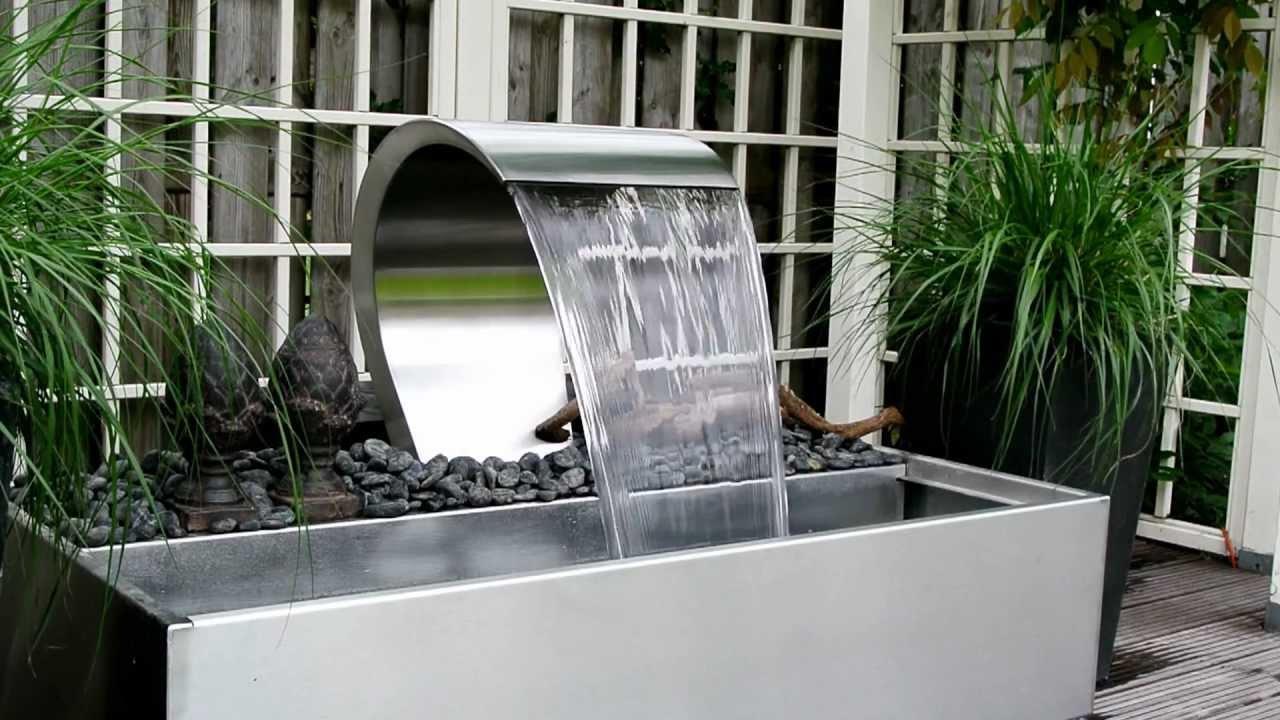 Livingstone mirror 400 waterval waterornament youtube for Waterornament tuin