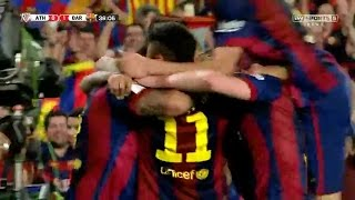 athletic bilbao vs fc barcelona 1 3 sky sport highlights 30 05 2015 copa del rey 2015