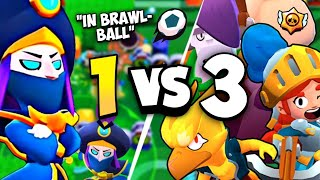 Mortis 1vs3 In Brawl Ball #1