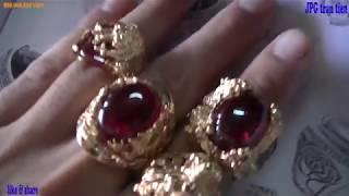Jewelry for men _ 18k gold beautiful_ nhẫn nam  vàng18k chất như nước cất