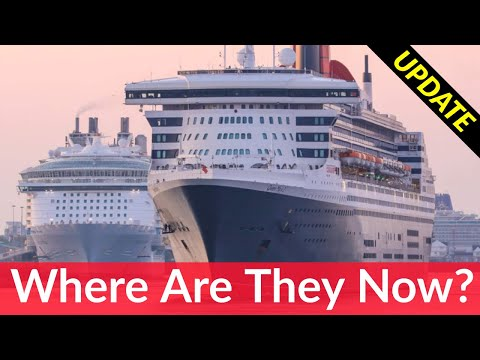 Where are all the EMPTY cruise ships? Long term parking for hundreds of cruise ships!