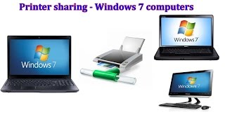 How to share a Canon printer between windows 7 computers in the Network