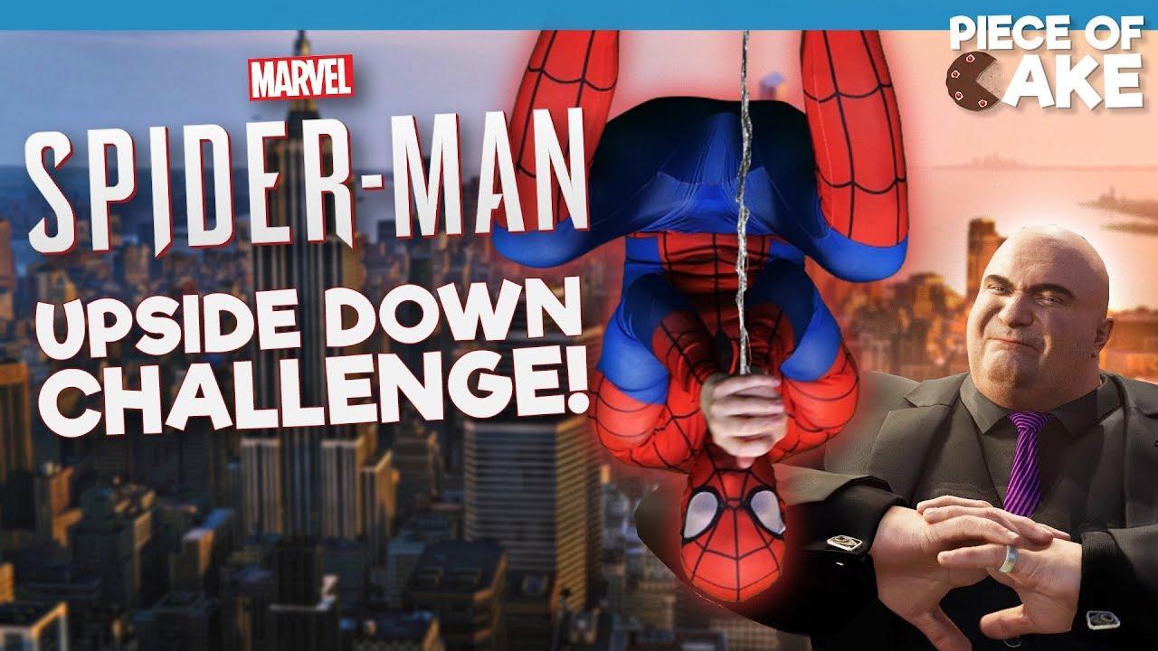 marvel s spider man upside down challenge youtube