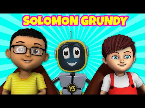 Solomon Grundy Nursery Rhyme | Learn Days of the week | Happy version of Solomon Grundy Baby song