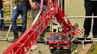 LARGEST XXXL 100KG RC SCALE 1:8 MODEL MOBILE CAR CRANE AT WORK AND IN MOTION