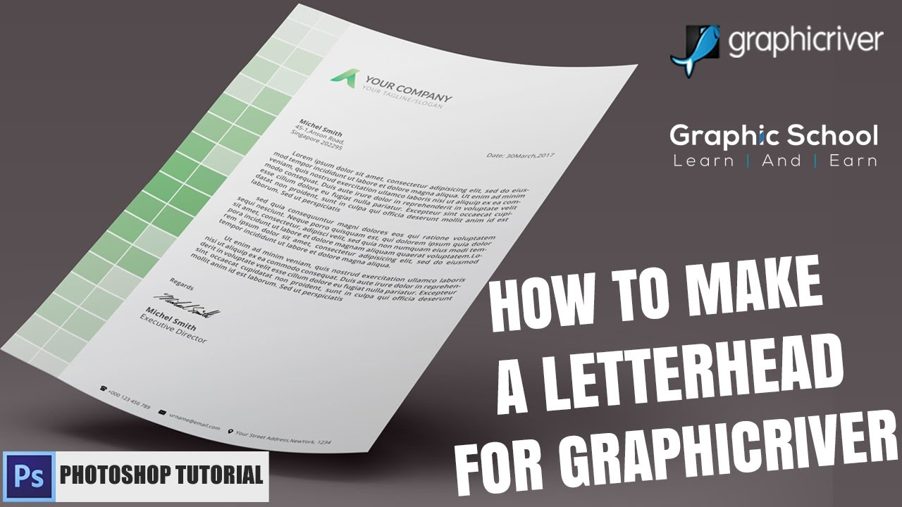 how do you make a letterhead