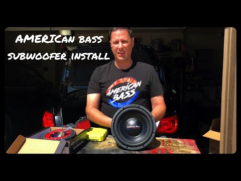american-bass-subwoofer-install-finishing-the-custom-subwoofer-enclosure-and-wiring-amp