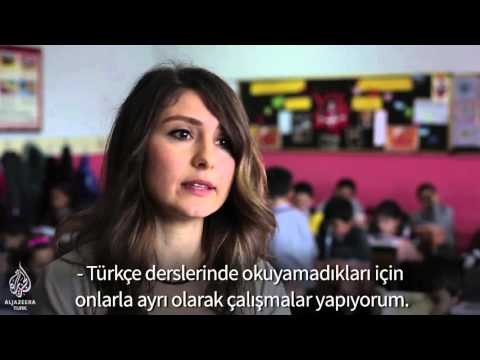Türkiye'deki Suriyeli çocukların okuldaki bir günü
