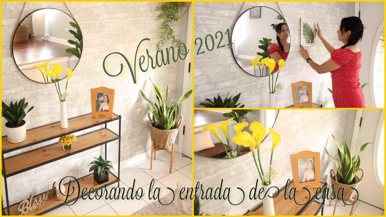Ideas de como decorar la entrada de tu casa en Verano con plantas   Decoraciones verano 2021