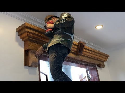 Woodworking Skills Of Carpenters Extremely High In Asia // Build & Install Art Door Frame Trim